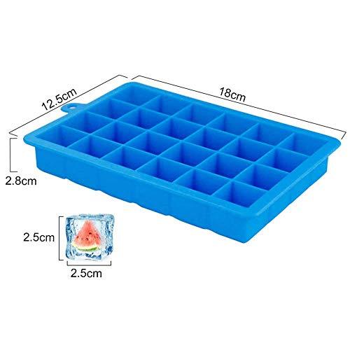 HTL Alimentaire Moule Grade Ice Cube Maker 6 Lattice Bac À Glaçons Bar Accessoires de Cuisine 18 * 12.5 * 2.8Cm Choix: Couleurs Aléatoires