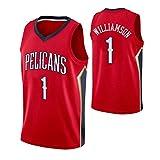 FURUN Camisetas Unisex NBA New Orleans Pelicans # 1 Zion Williamson Camisetas de Baloncesto Transpirables Swingman