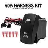 HugeAuto Kit de faisceau de câblage pour barre lumineuse LED 12 V 40 A Interrupteur marche/arrêt pour la plupart des phares de bar, spots, feux de conduite, lampe de travail 300 W
