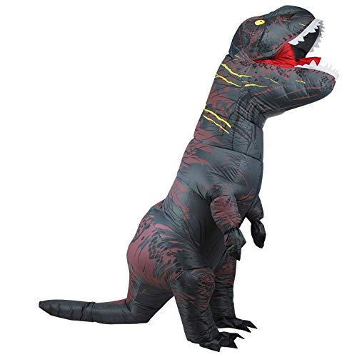 WXYAN Aufblasbare Kostüm Dinosaurier Für Kinder/Erwachsene,Halloween Weihnachtsfeier Cosplay Kostüme Lustige Gaint Anzug,Gray-Adult