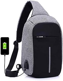 Bag For Men,Black & Grey - Crossbody Bags