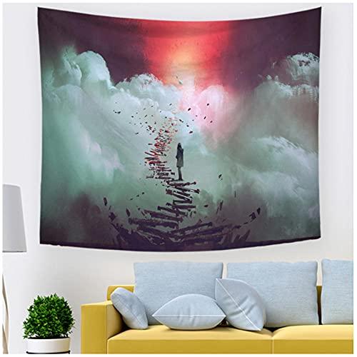 KBIASD Tapiz de fantasía de Paisaje Nocturno con Estampado de Pintura para Colgar en la Pared, decoración para el hogar, salón, Dormitorio, Sala de Estar, 200x150cm