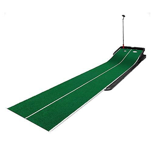 Juego De Colchoneta De Golf De 3 M, Entrenador De Golf, Pendiente Ajustable De Interior, Retorno Automático De Pelota, Juego De Colchoneta De Práctica De Golf Verde