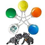 LUKIUP® Collar LED Luz Perro, 5 PCS Luces de Seguridad Coloridas para Perros y Gatos, Collar Luminoso Perro Impermeable con 3 Modos de Parpadeo, para Mascotas por Caminar por la Noche