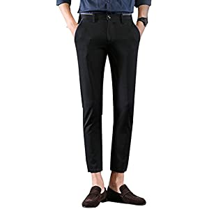 Men's Stretch Skinny Fit Casual Business Pants Ankle Dress Pants