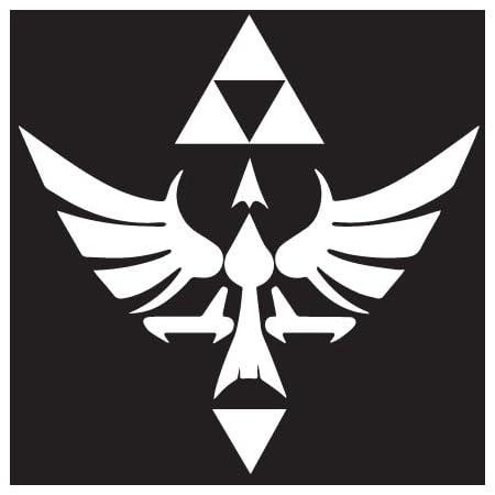 "Legend of Zelda Hyrule Crest TriForce VINYL DECAL Sticker Car Window Laptop 4/"""