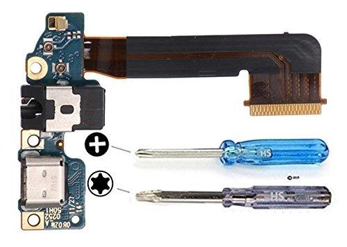 MMOBIEL Conector Dock Cargador Compatible con HTC M9 de Repuesto. Puerto Micro USB Cable Flex con Adhesivo. Incluye Dos Destornilladores y Adhesivos