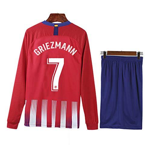 COOLBOY Griezmann 7, Trikot Set mit Hose, 2018-2019 Atletico Madrid Home Herren Trikot und Shorts,XL