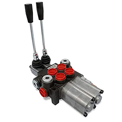 Monoblock Hydraulic Directional Control Valve, 2 Spool w/Dual Float Detent, 11 GPM from Summit Hydraulics