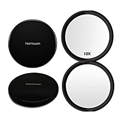 HAMSWAN Double Sided Makeup Compact Mirrors