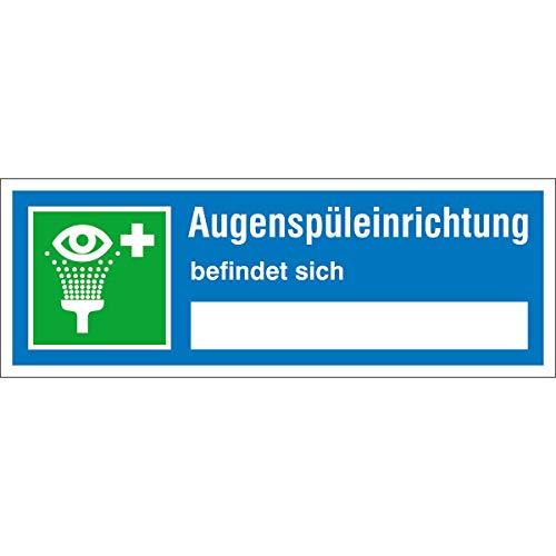 Betriebsausstattung24® Sicherheitseinrichtung Augenspüleinrichtung Hinweisschild,selbstkl.Folie,14x5cm
