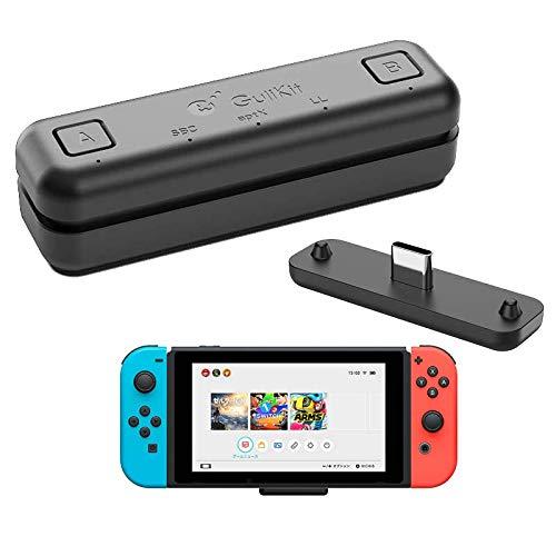 Adaptador de transceptor USB de audio Bluetooth GuliKit Route Air para Nintendo Switch / Switch Lite / PS4 / PC, 5 mm, sin retraso, Plug and Play