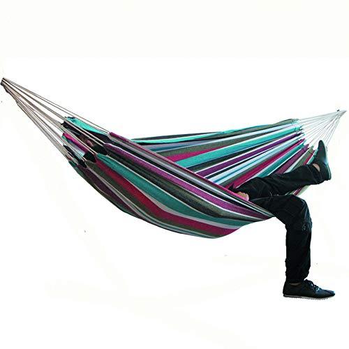 DCKJL hangmat 2-pers. hangmat Camping Dikke schommelstoel Outdoor Hangend Bed Canvas schommelstoel Niet met Hangmat Stand 200 * 150cm