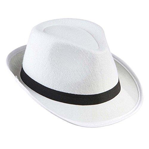 Gangster fieltro blanco withblack Band 20s 30s Gangster Sombreros Gorras Y Sombreros para Disfraces accesorios , color/modelo surtido