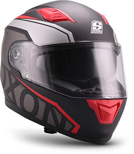 "Soxon® ST-1000 Race ""Red"" · Integral-Helm · Full-Face Motorrad-Helm Roller-Helm Scooter-Helm..."