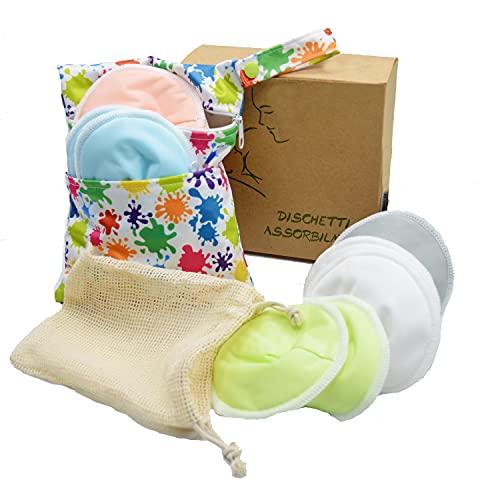 Discos absorbentes reutilizables para lactancia.