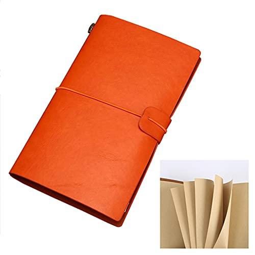 FACHAI Cuaderno A6, con tapa dura de cuero y tapa dura, cuaderno de viaje de cuero rellenable, páginas premium de 80 g/m², 20 x 12 cm (4,7 x 7,8 pulgadas)