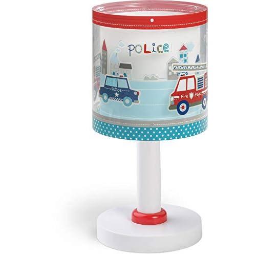 Dalber Polizia Lampada da Tavolo 40 W, Multicolore, 300 x 150 x 150