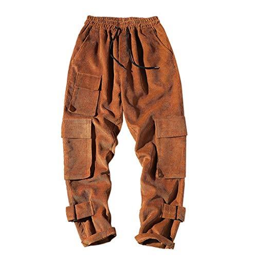 PLOT Herren Cordhose Classic Straight Jeans Vintage Corduroy Hosen Herren Freizeithose Slim Fit