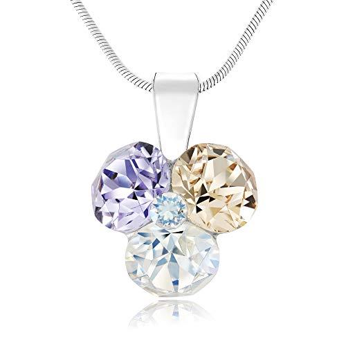 Chic Bijoux Damen - 925 Sterlingsilber Sterling-Silber 925 Rund Mehrfarbig Kristall