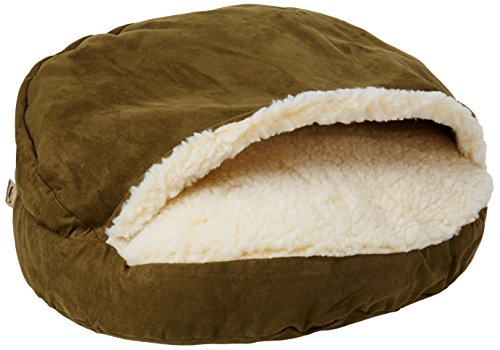 Snoozer Luxury Cozy Cave Pet Bed, Small, Olive