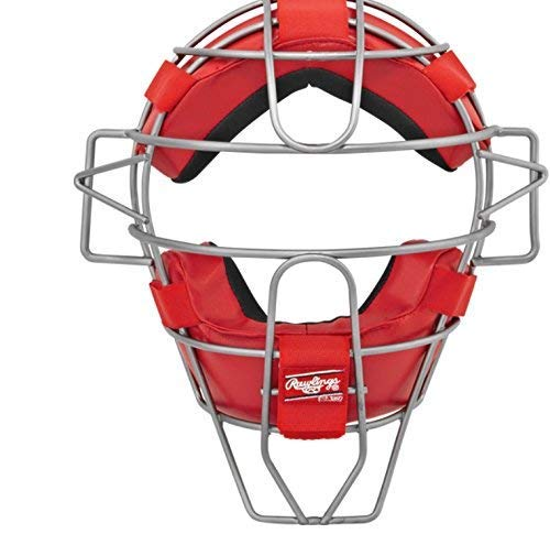 Rawlings Ultra Lightweight Adult Catcher's Face Mask, Scarlet
