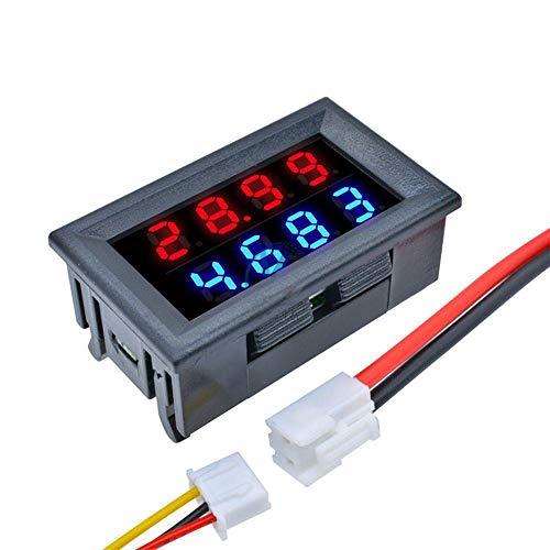 ILS - DC 100V 10A 0,28 Zoll Mini Digital Voltmeter Amperemeter 4 Bit 5 Drähte Spannung Stromzähler mit LED-Dual-Display