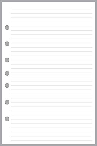 Classic Size Notes Insert with Simple Lines Spaced 1/4