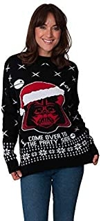 New Camp Ltd Christmas Star Wars Mens Womens Unisex Santa Darth Vader Xmas 2017 Jumper Novelty Party Sweater Exclusively t...