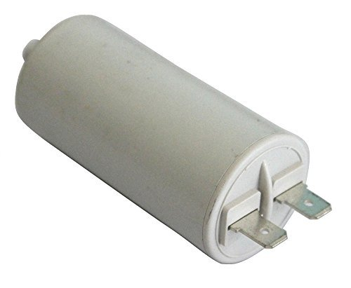Aerzetix condensator voor motor 6 μF 450 V met kabelschoenen, 6,3 mm