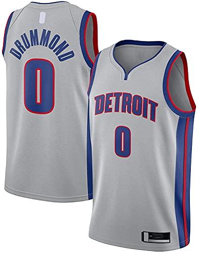 jiaju Ropa Andre Hombres Drummond Al Aire Libre Detroit Basketball Jersey Pistons Sudadera # 0 Swingman Jersey Silver - Declaración EDICIÓN-L (Color : Silver, Size : Small)