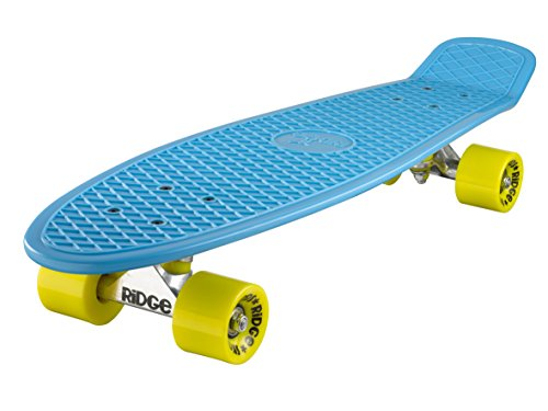 Ridge Skateboards Big Brother Retro Cruiser, Azzurro/Giallo, 69 cm (27'')