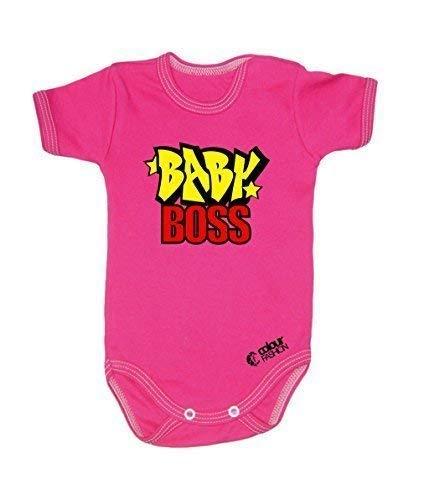 Colour Fashion Marrant Bébé Boss Garçon Unisexe Combinaison Manche Courte 100% Cotton Petit Bébé - 24 Mois 0038 - Rose, Tiny Baby, 52 cm