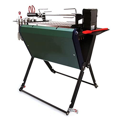 N\C Type de Gril de Barbecue au Charbon de Bois Pliant, Outil de Gril de fumée de Barbecue Portable, Type Ultra-léger Facile à Installer, adapté à la Cuisine de Camping, Vert LKWK