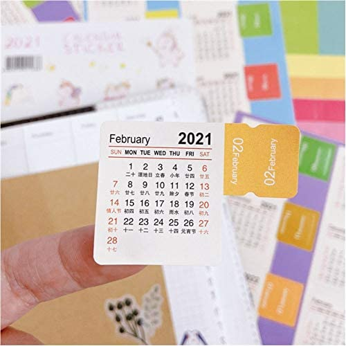Calendar Index Stickers for Bullet Journal Agendas Planner January 2021 to March 2022 Monthly product image