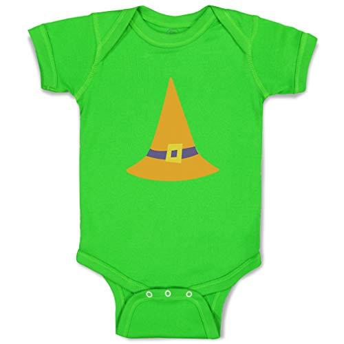 Custom Boy & Girl Baby Bodysuit Witch Hat Orange Funny Cotton Baby Clothes Apple Green Design Only Newborn