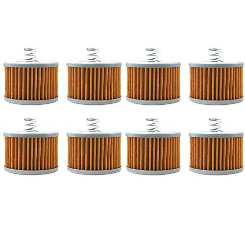 Xingfuqy Filtro de Aceite for Bajaj 100 Boxer CT100 115 Calibre 130 Boxer BM150 135 Pulsar for Yamaha YS125 150 Byson FZ16 CT 100 YS 125 BM 150 A Hoy (Color : 8pcs)