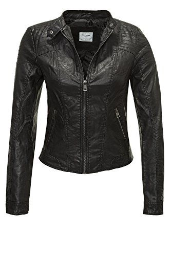 VERO MODA Damen VMMIRA Short PU Jacket DNM NOOS Jacke, Schwarz (Black), 34 (Herstellergröße: XS)