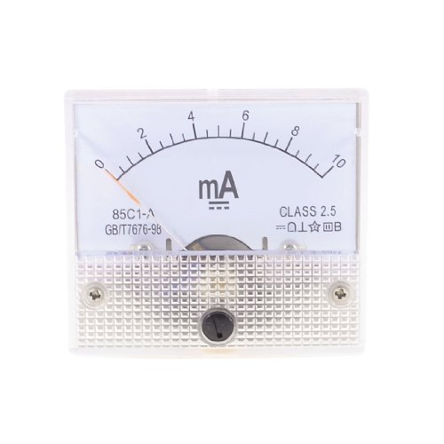 DealMux Class 2.5 Genauigkeit DC 0-10mA Analog Current Panel Meter Amperemeter 85C1-A