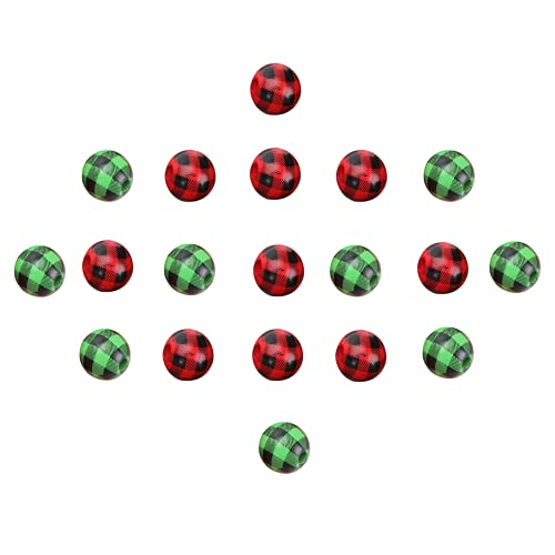 Abaodam 40Pcs Perline di Legno Rotondo Beads- Verde E Rosso Buffalo Plaid Perline di Legno Ghirlanda- Fai da Te Perline di Legno per Artigianato Braccialetto Agriturismo Decorazione di