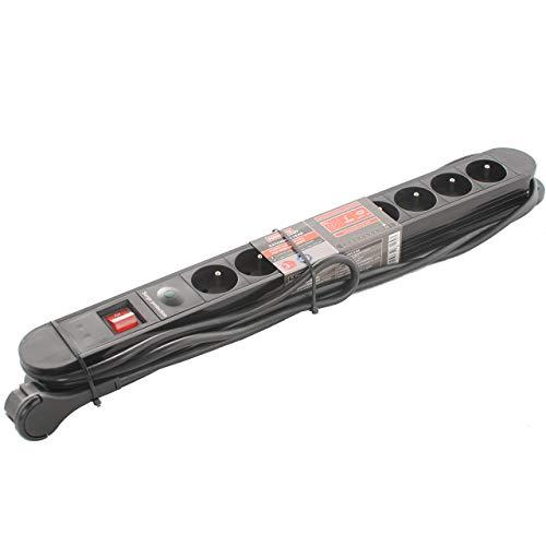 8-fach POWERFIX Steckdosenleiste Geräteschutzleiste mit Kindersicherung Überspannungsschutz