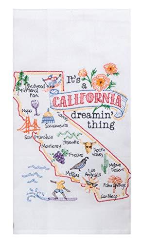 Kay Dee Designs ST Thing California EMB F/S Dish Towel, 17.5 x 28, Various
