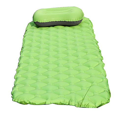 GYFHMY Camping Inflatable Sleeping Mat, Lightweight 460G Air Mattress, Portable Compact, Single Bed with Pillow, Best for Hiking Outdoor Traveling Camp Sleep