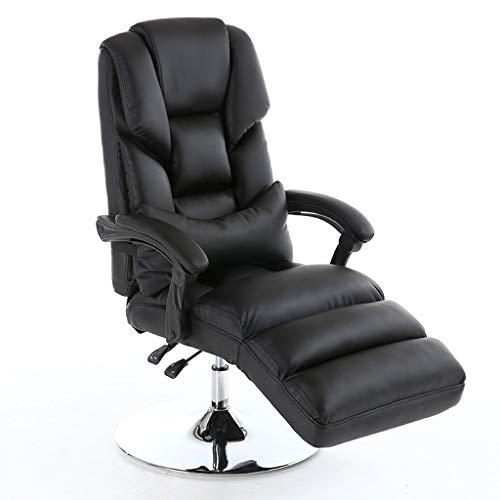 Schreibtischstühle Stühle Schönheit Stuhl Home Computer Stuhl Aufzug-Stuhl Make-up-Stuhl Liegender Schönheit Erfahrung Stuhl Büro-Boss Stuhl Zurücklehnen 360 ° Rotation (Color : Black)