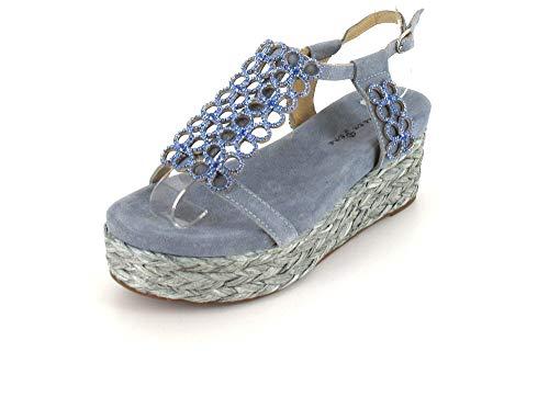 Alma en Pena Sandalette Größe 37, Farbe: Jeans