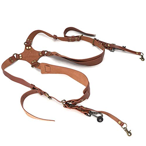 AMONIDA Free Size Adjustable Skin‑friendly Camera Shoulder Belt, Camera Shoulder Strap, for Women Men(Shoulders-brown)