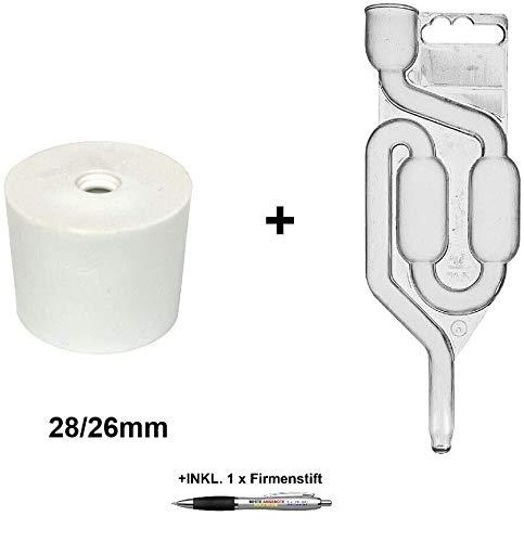 Beste Angebote Gummistopfen + Gärrohr Gummikorken Gärspund Gärverschluss Stopfen Gäraufsatz (28/26mm)
