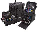 VAVCI®2 en 1 maleta troly de Maquillaje SM 805 Bolsa de Maquillaje Profesional con Cajones de Almacenamiento Makeup Case
