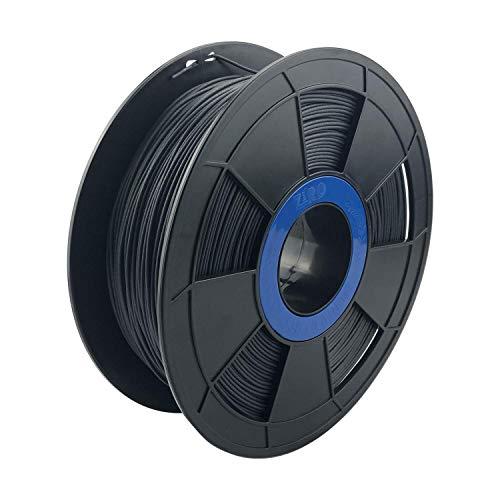 Ziro Filamento de impresora 3D de fibra de carbono PLA 1,75 mm, bobina de 0,8 kg – negro