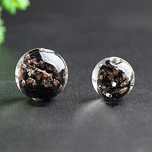 10 piezas redondas luminosas 6mm 8mm 10mm 12mm cuentas sueltas de cristal de murano hecho a mano para hacer joyas DIY manualidades hallazgos
